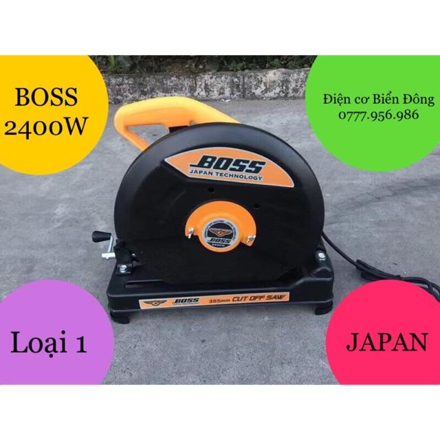 Máy cắt sắt  FREESHIP  Tặng đĩa cắt 355mm Máy cắt sắt chính hãng BOSS BO355 đĩa 355mm 2400W