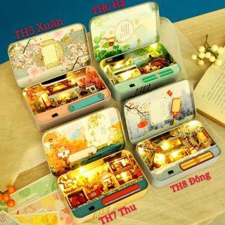 Mô hình nhà gỗ búp bê Dollhouse DIY – TH5 TH6 TH7 TH8 Box Theatre