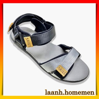 Giày Sandal Nam ARICH BY ARIES Màu Đen Bạc Thời Trang - Dép Sandal Nam Nữ Quai Hậu - AMSS03 thumbnail