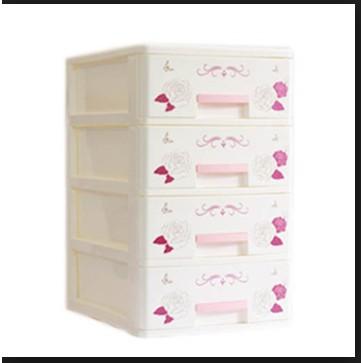 Tủ nhựa mini 4 tầng SONG LONG (tủ nhỏ không đựng được quần áo)