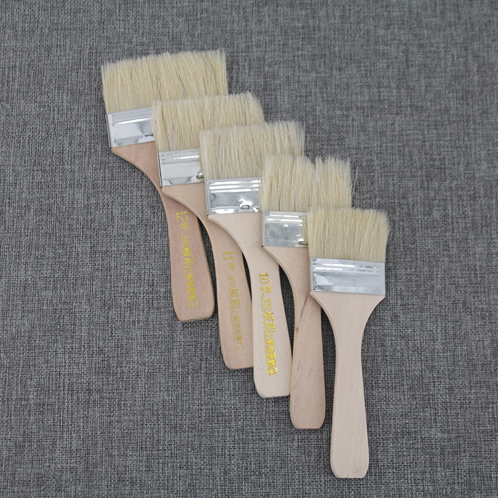 9 Pcs/set Watercolor Children For School Drawing Tool Art Supply Gouache Bristles Home Portable Oil Painting Brush