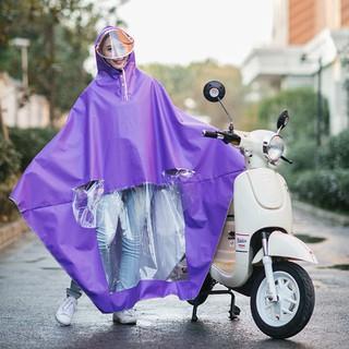 Yêu ThíchÁo mưa một người, có kính và khẩu trang che mặt đi xe máy