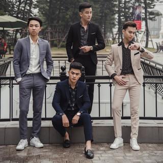[ Mua Áo Tặng Quần ] Áo Vest nam Hàn Quốc Edana Menswear cao cấp không nhăn , không xù cho người 45 – 78 kg