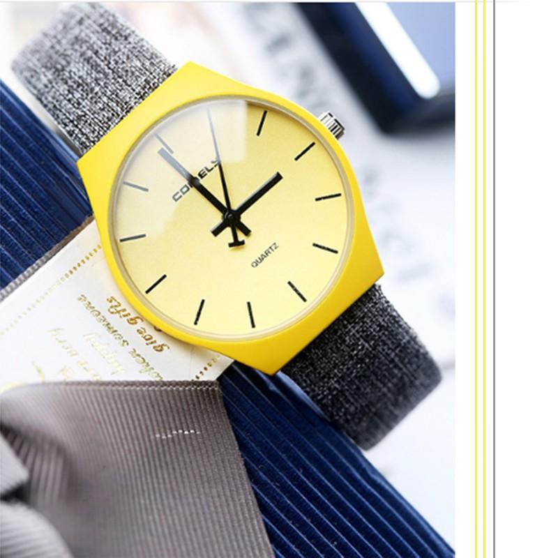 Đồng hồ nữ Comely dây vải xám mặt vàng - 2466819 , 84421566 , 322_84421566 , 350000 , Dong-ho-nu-Comely-day-vai-xam-mat-vang-322_84421566 , shopee.vn , Đồng hồ nữ Comely dây vải xám mặt vàng