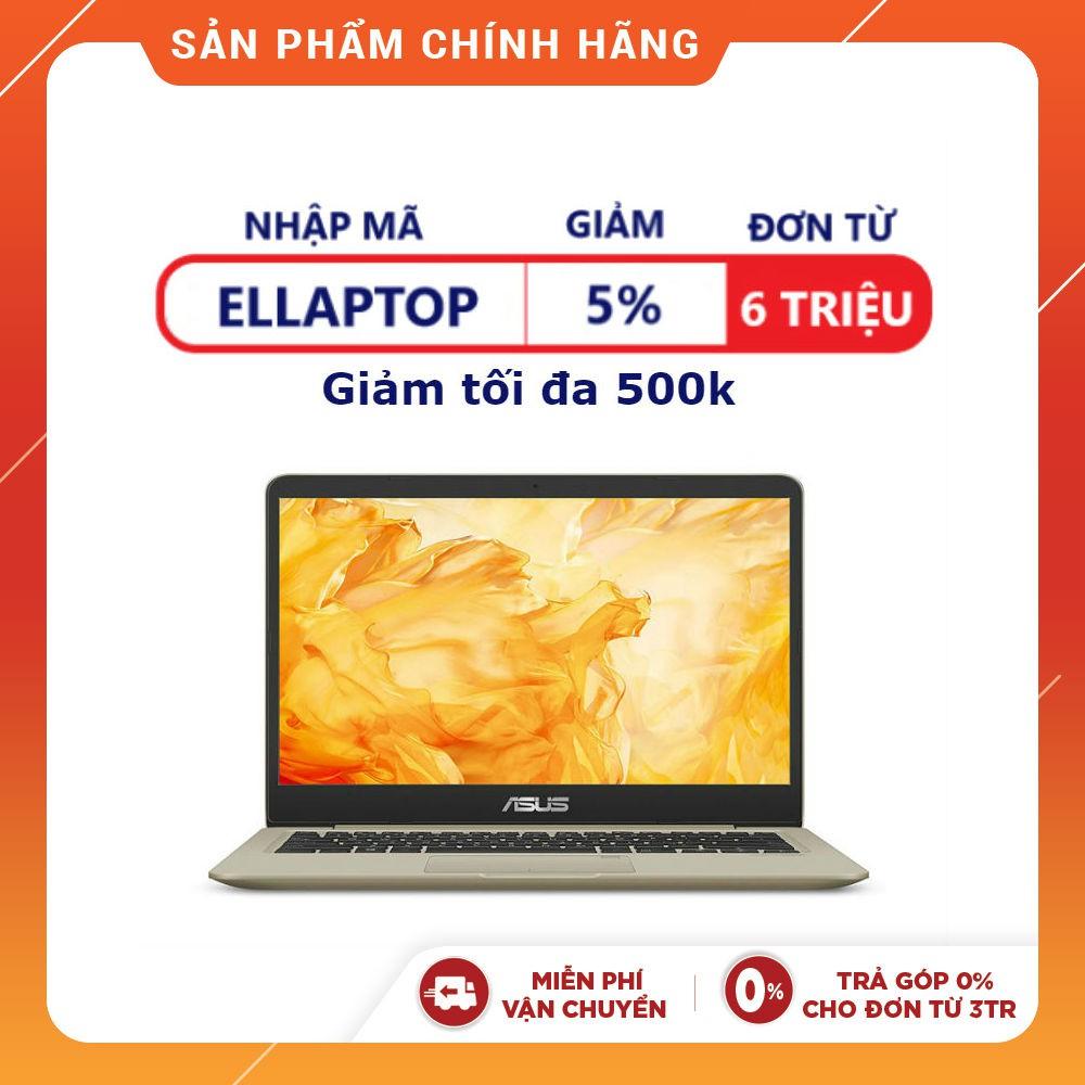 [Nhập ELLAP10 hoàn 800K xu]Laptop chính hãng Asus 14 Inch S410UN-EB210T  (Gold) Vỏ nhôm + Chuột