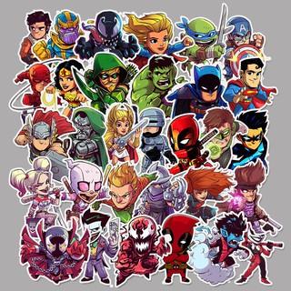 Sticker Avenger, Sticker DC, Sticker Marvel, Sticker siêu anh hùng, Ninja rùa, Hulk, Thanos, Deadpool, Batman