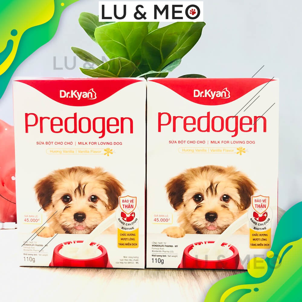 Sữa bột dinh dưỡng hoàn chỉnh dành cho chó Predogen - hương Vanilla, 110g