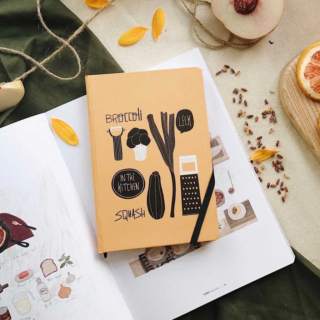 Sổ Food - Ruột mix dot, plain, lined