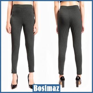 Quần Legging Nữ Bosimaz MS023 dài không túi màu xám xanh cao cấp, thun co giãn 4 chiều, vải đẹp dày, thoáng mát. thumbnail