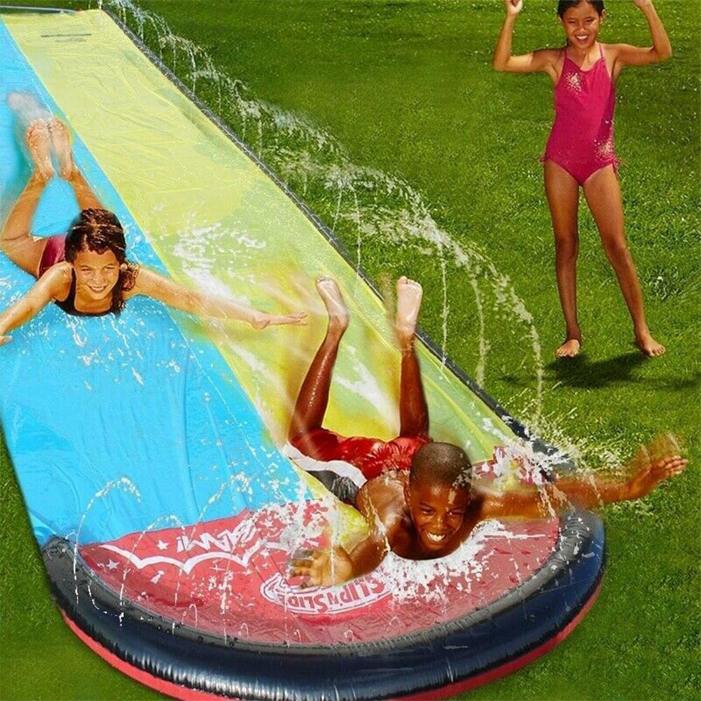 PVC Inflatable Double Slide Children's Lawn Water Slide M2N1