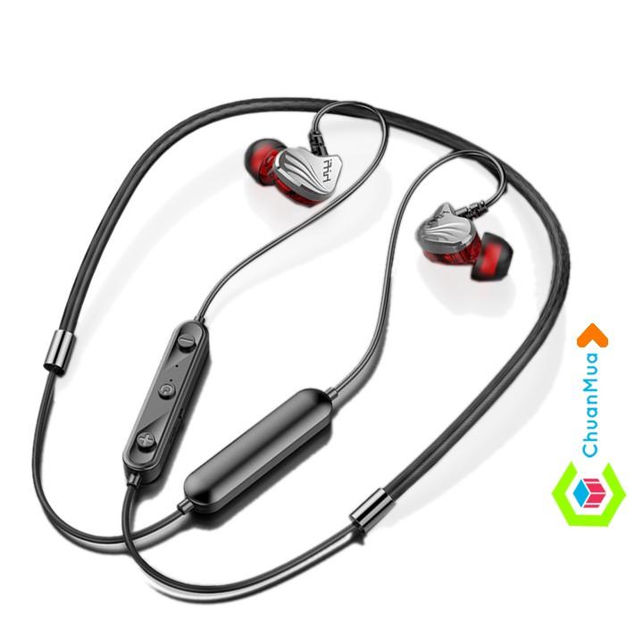 Tai Nghe Bluetooth 5.0 Đeo Cổ Có Mic Cao Cấp ( Chống Ồn, Bass Mạnh, Nhét Tai, Không Dây Điện Thoại Android Chơi Game ..)