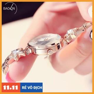 [Hàng chính hãng] Đồng hồ nữ Kimio 6201 Hàng chính hãng dây kim loại nhỏ xinh lắc sao