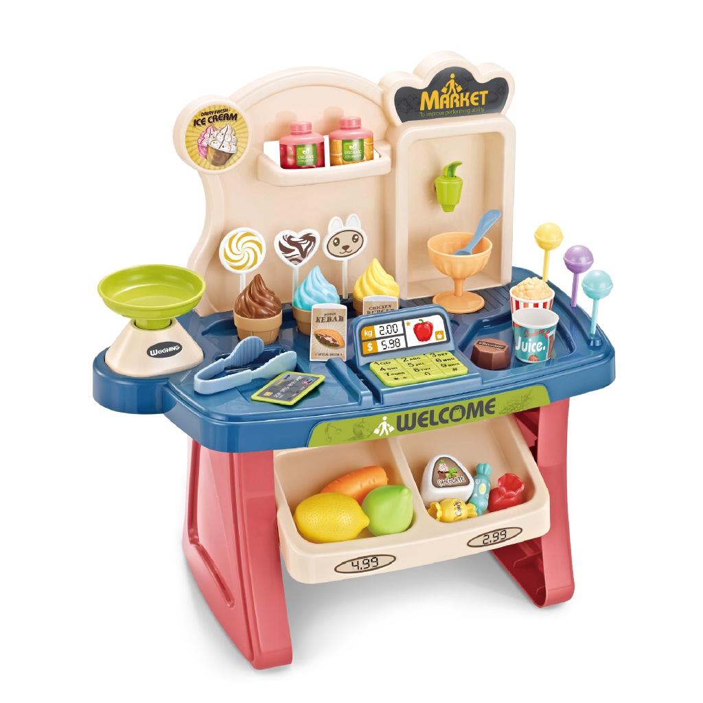 Đồ chơi mô hình quầy tính tiền siêu thị có đèn và nhạc đa năng dành cho trẻ