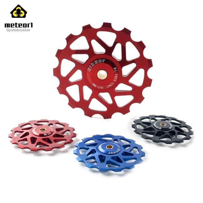 Aluminum 15T Sealed Bearing Derailleur Jockey Wheel Guide Pulley For MTB Road Bike