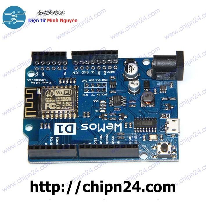 Mạch điện tử Arduino Wifi ESP8266 NodeMCU Lua Wemos D1 R2
