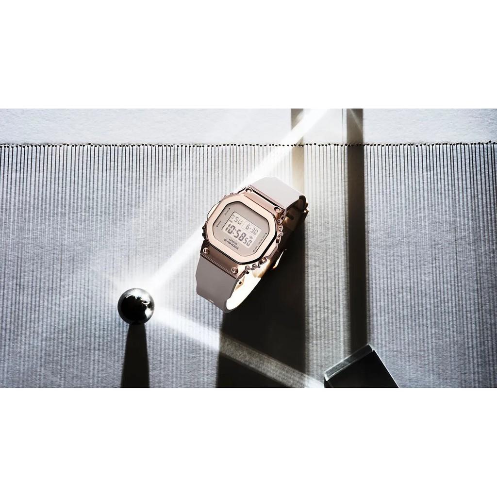 Đồng hồ casio nữ dây nhựa G-SHOCK GM-S5600PG-4DR chính hãng