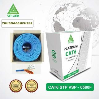 <NEW> Cáp mạng VP-LINK STP CAT 6E 305M Platium Xanh Dương ( VSP-0580F)