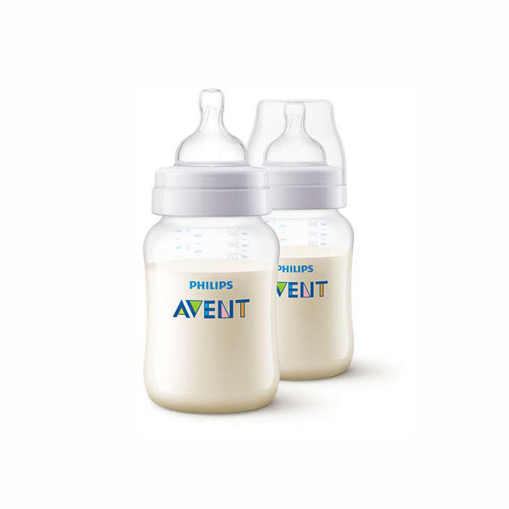 Set 2 bình sữa SCF563.27 bằng nhựa không có PBA 260ml philips avent NK anh