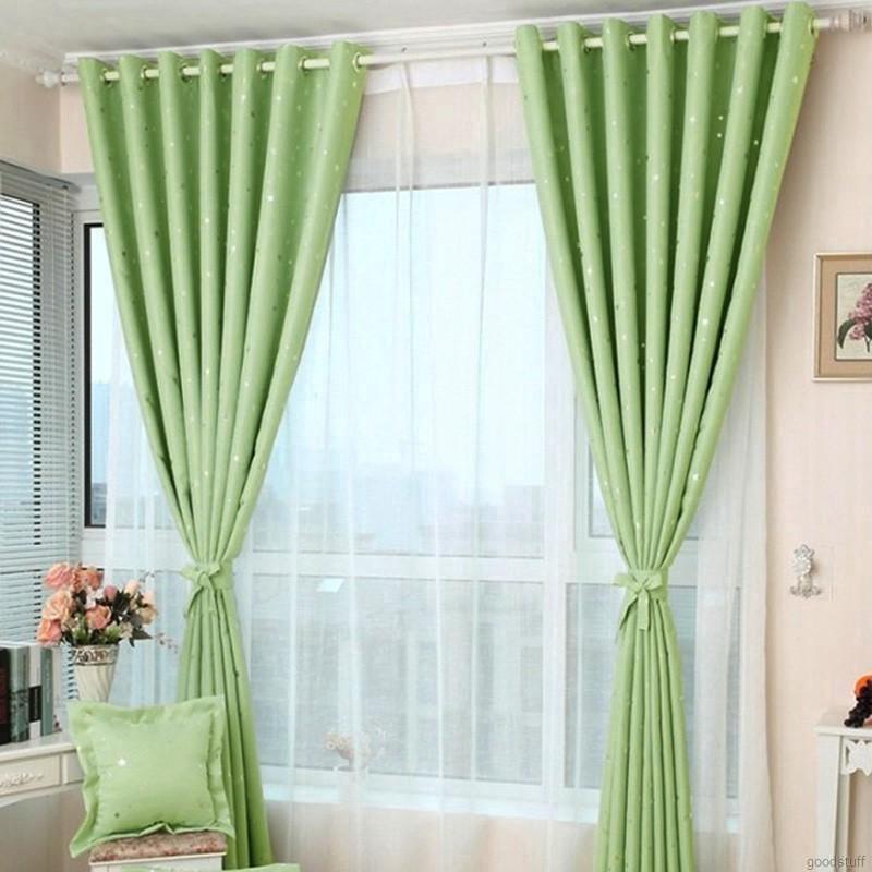 Yêu ThíchTấm rèm cửa, in hình ngôi sao, có thể tách ra 2 bên, trang trí phòng