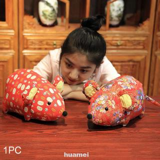 Holiday Desktop Chinese Stuffed Soft Festival Party Home Decor Mouse Plush Toy