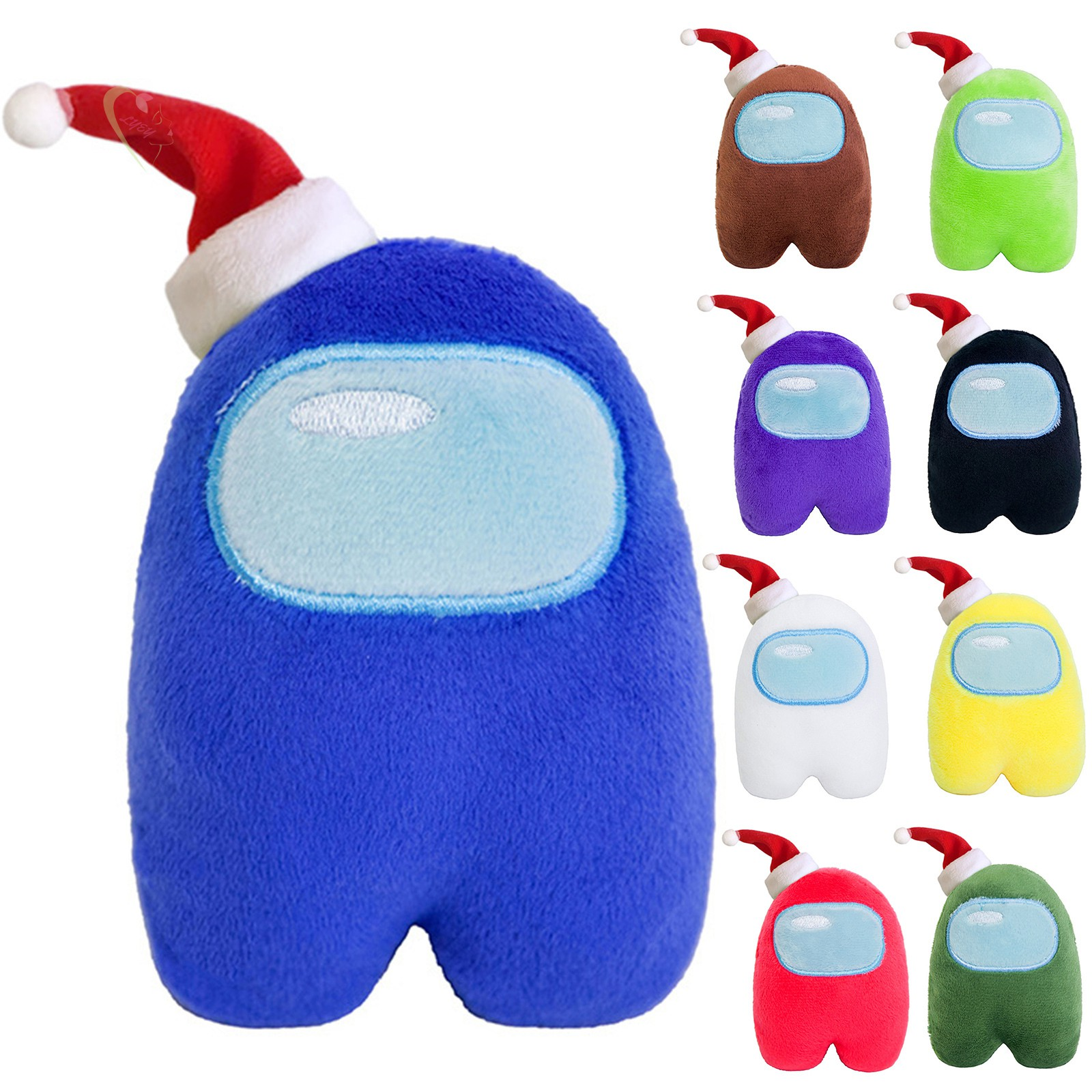 LE Xmas Hat Figure Among Us Plush Crewmate Plushie Kawaii Stuffed Soft Game Plush Toy Lovely Stuffed Doll Christmas Gift @VN
