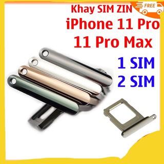 khay Sim iphone 11 / 11 Pro / 11 Pro Max Đủ màu Gold / Siver / xanh / Gray
