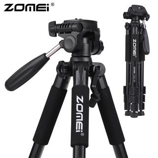 Zomei Q111 Professional Portable Aluminium Travel Tripod With Bag Camera Accessories Stand For Digital Pan Head Dslr Dji Ringlight Lampu Suluh Kepala Mini Projector