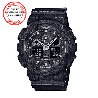Đồng hồ Nam G-Shock Casio dây nhựa kim-điện tử GA-100CG-1ADR - Chính hãng Casio Anh Khuê thumbnail