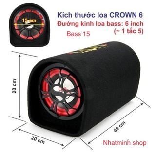 loa crown 6 đế tròn