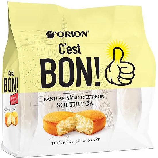 Bánh ăn sáng C'est bon Orion sợi thịt gà (15 Bánh - 17g/bánh)