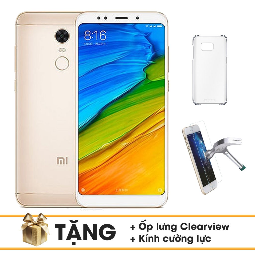 Combo Điện Thoại Xiaomi Redmi 5 32Gb Ram 3Gb + Ốp Lưng + Cường Lực - Hàng Chính Hãng