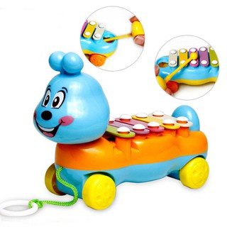 Colorful Cute 5-Note Piano Kids Pull-Along Musical Development Instrument Toy