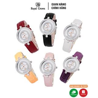 [Mã FASHIONRNK giảm 10K đơn 50K] Đồng hồ nữ chính hãng Royal Crown 3628ST Dây da các màu thumbnail