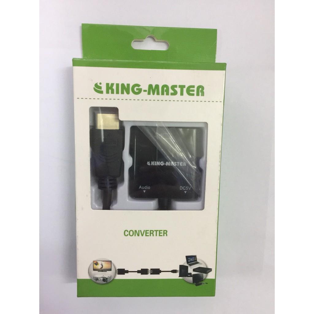 Cáp HDMI sang VGA audio KingMaster KY-H121B - Hãng phân phối