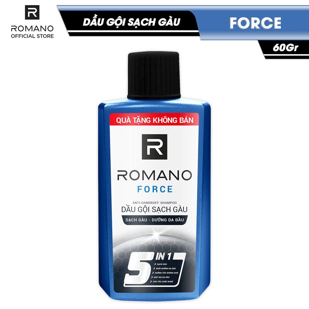 Dầu gội sạch gàu Romano Force 60gr