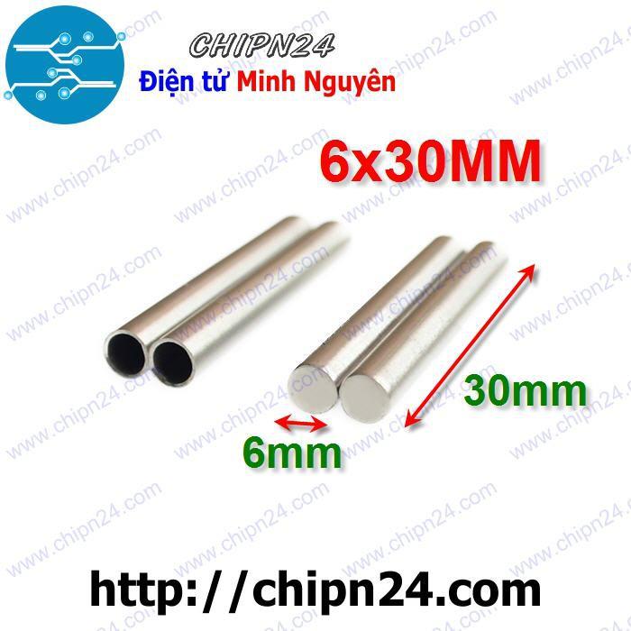 [2 CÁI] Ống thép không rỉ bọc đầu Cảm biến PT100 DS18B20 kích thước 6x30mm