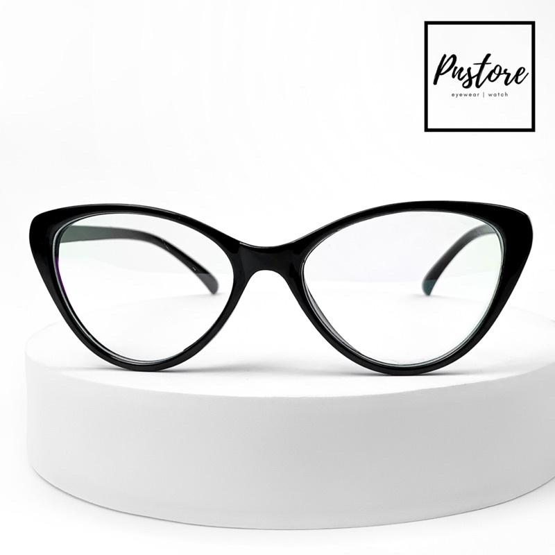 Gọng kính nhựa dẻo dáng mắt mèo nữ thời trang - Đồng hồ mắt kính PN STORE