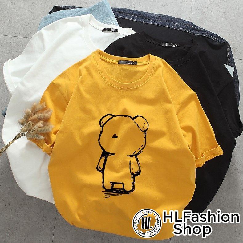 Áo Thun Tay Lỡ Gấu Teddy dễ thương đáng yêu - form rộng