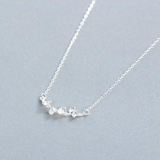 Dây Chuyền Bạc Nữ S925 Hình Lá Bảo Ngọc Jewelry DB-1584