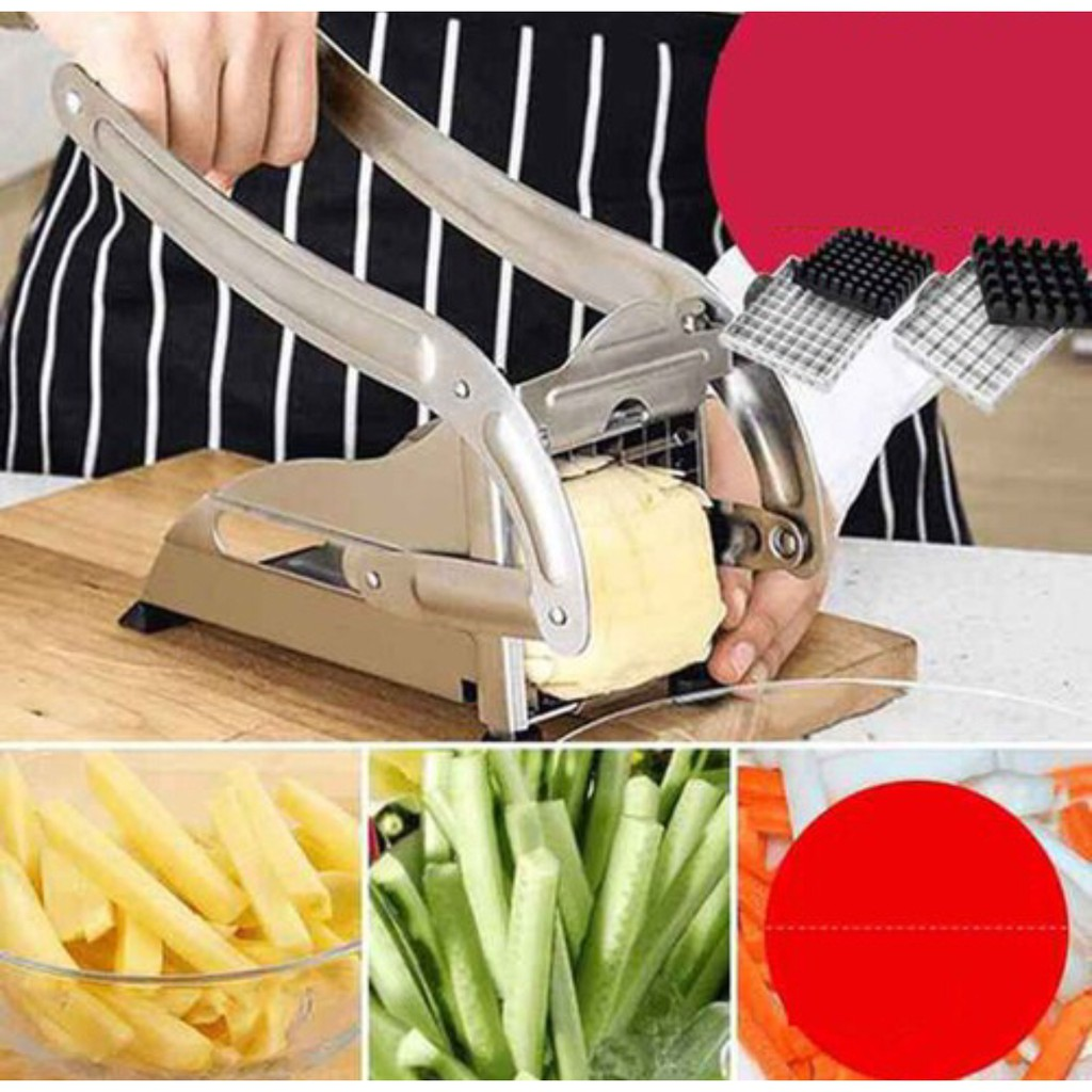 Bếp chiên nhúng điện + Máy cắt khoai tây vuông KFC