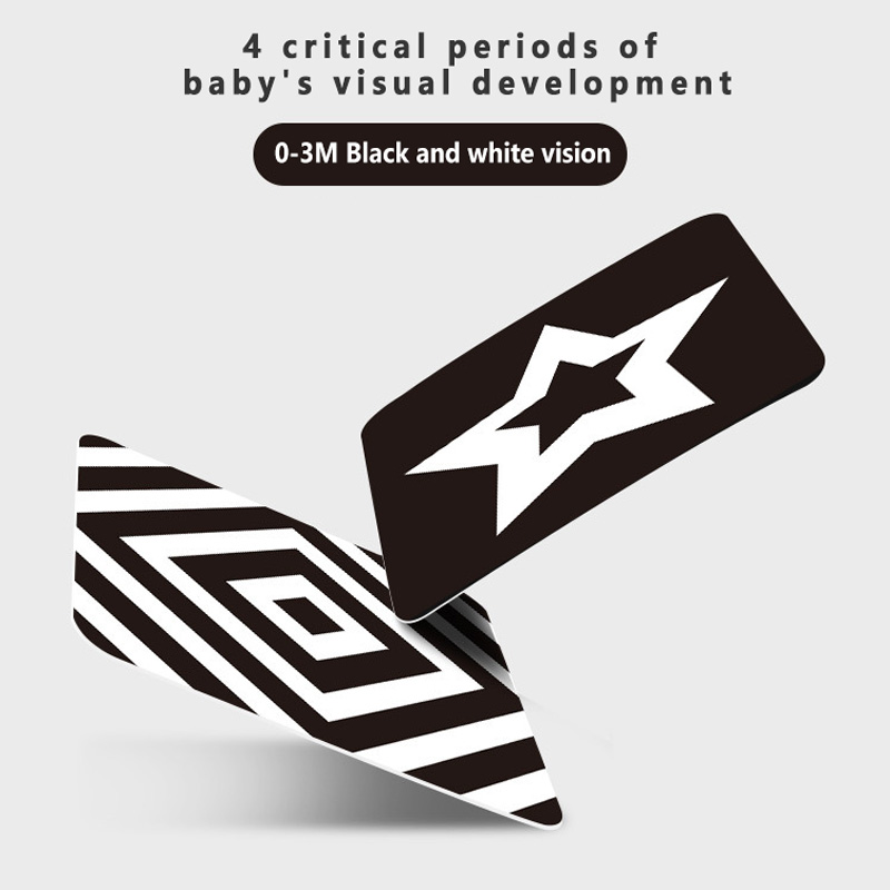 Baby Visual Stimulus Card Kids Sensory High Contrast Vision Development Flashcards Enlightenment Early Learning Toy