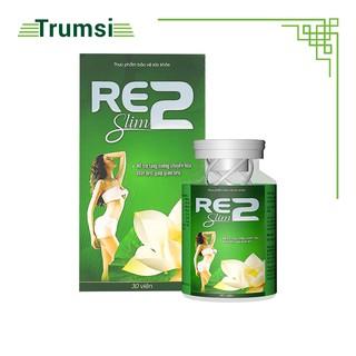 Viên uống giảm cân nhanh , giảm mỡ bụng, giảm cân an toàn, hiệu quả Re2 Slim - Hộp 30 Viên thumbnail