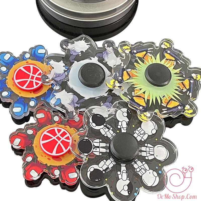 Con Quay Spinner Hoạt Hình Naruto Among Us nhựa Cao Cấp