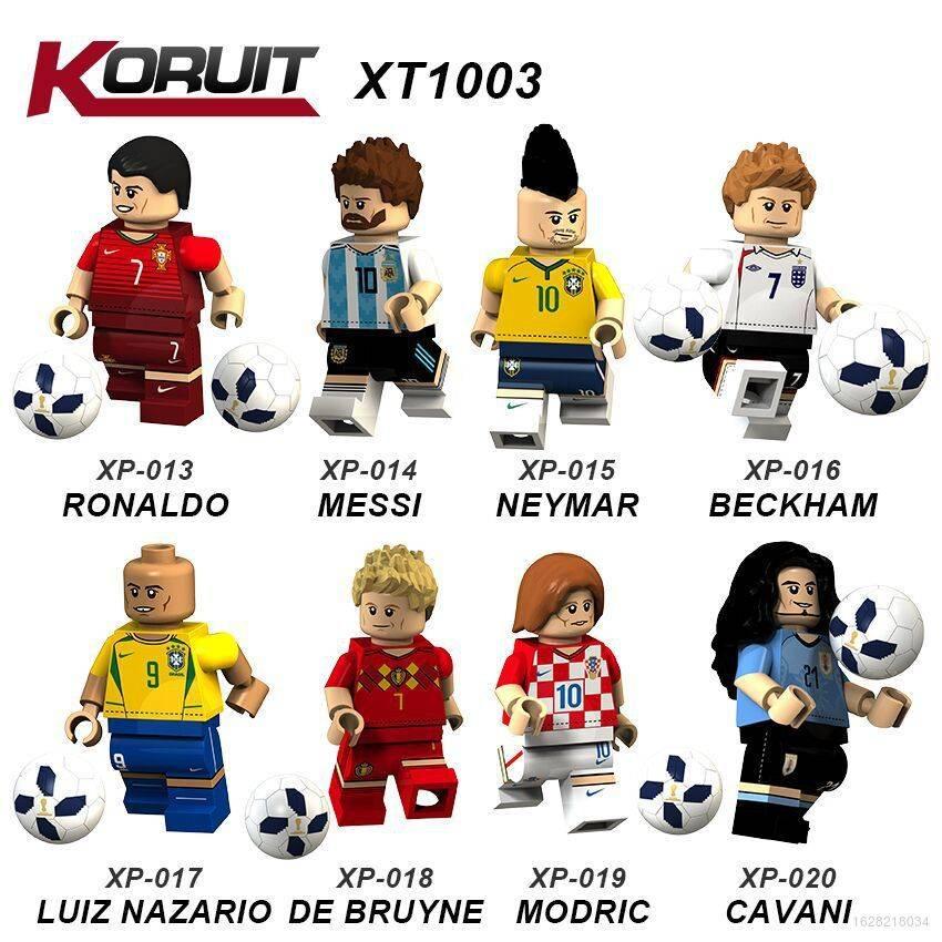 Lego Bộ Lắp Ráp Mô Hình Cầu Thủ Bóng Đá Messi Neymar Ronaldo