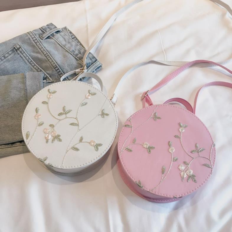 Túi hộp tròn mini nhỏ đeo chéo giá rẻ da mềm, túc xách nữ công sở TXN47-C Loại 1
