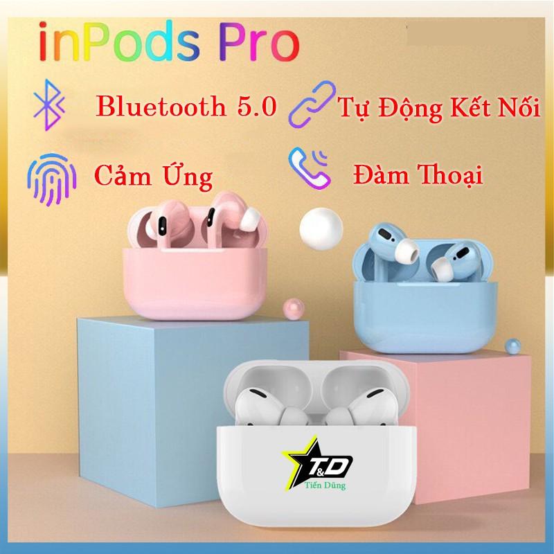 Tai nghe bluetooth inpods pro bản nâng cấp tai nghe inpods 12- Tai nghe inpods pro thiết kế trẻ trung có các màu