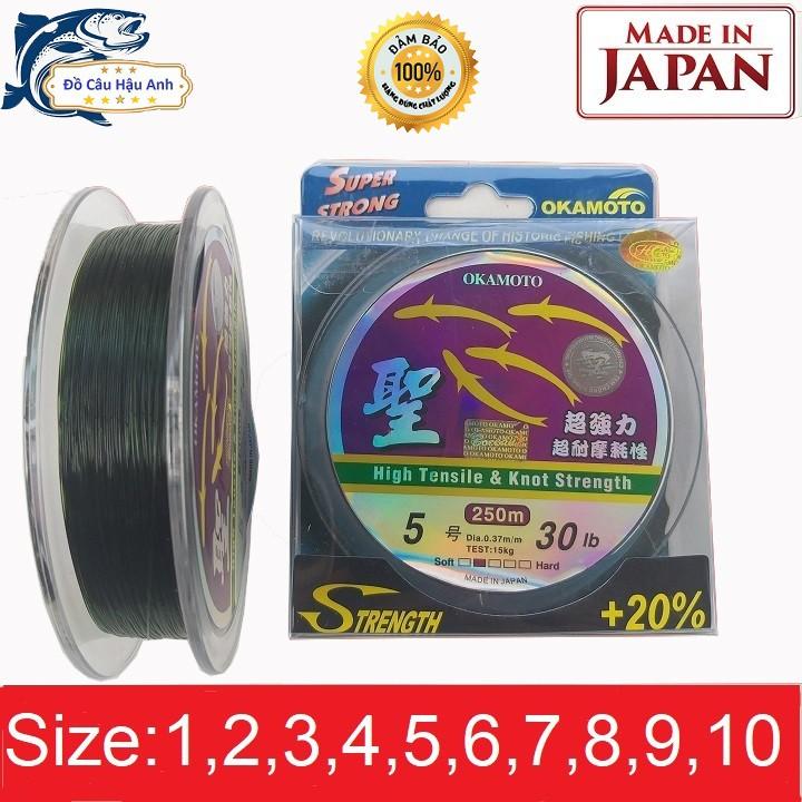Cước Câu Cá Tàng Hình Cước Câu Cá Nhật Bản OKAMOTO 250m Siêu Bền DC1