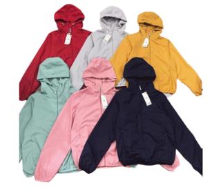 [Mã FASHIONT4WA2 giảm 10K đơn 50K] áo gió nữ 2 lớp lót nỉ thumbnail