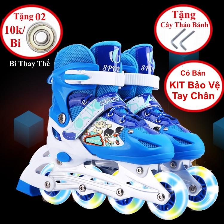 [Tặng 2 Vòng Bi Sơ Cua 20k ] Giày Trượt Patin Phát Sáng Sport Trẻ Em - Giầy Batin Người Lớn Phát Sáng