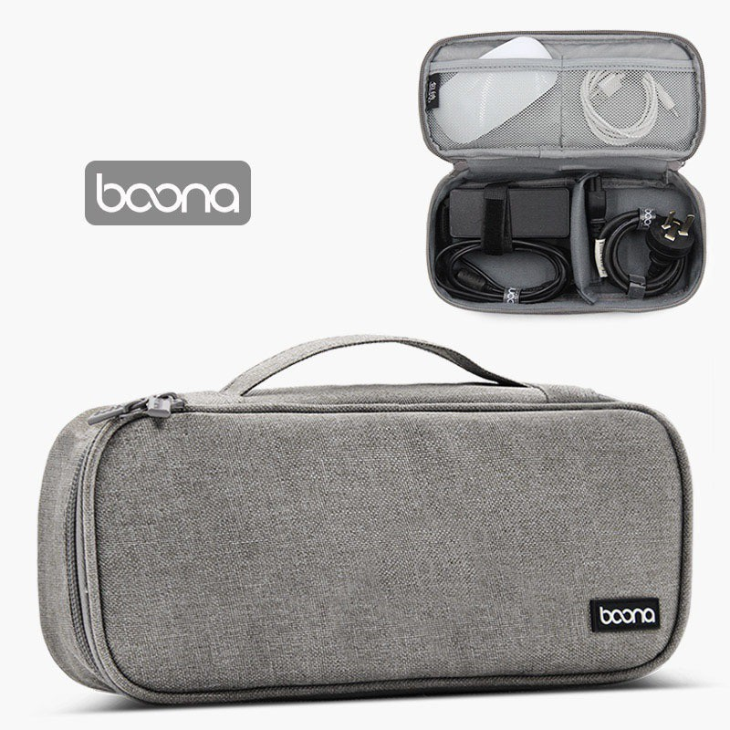 Túi đựng cáp sạc pin dự phòng chuột máy tính Macbook Laptop Ipad hãng Baona (Boona) B002